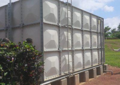 Réservoir GRP 100m3 sur longrines bétons
