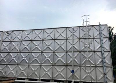 Réservoir 500m3 HDG sur longrines bétons